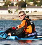 Ollie Jay in his sea kayak